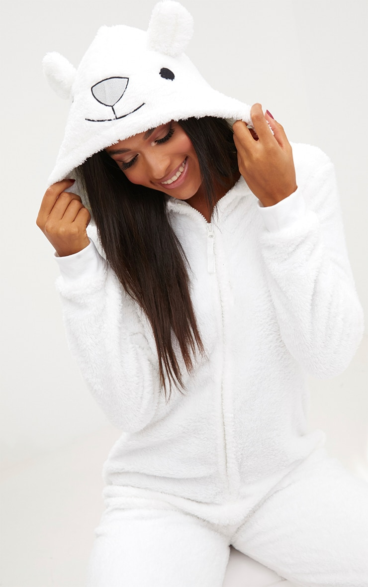 White Polar Bear Onesie 5
