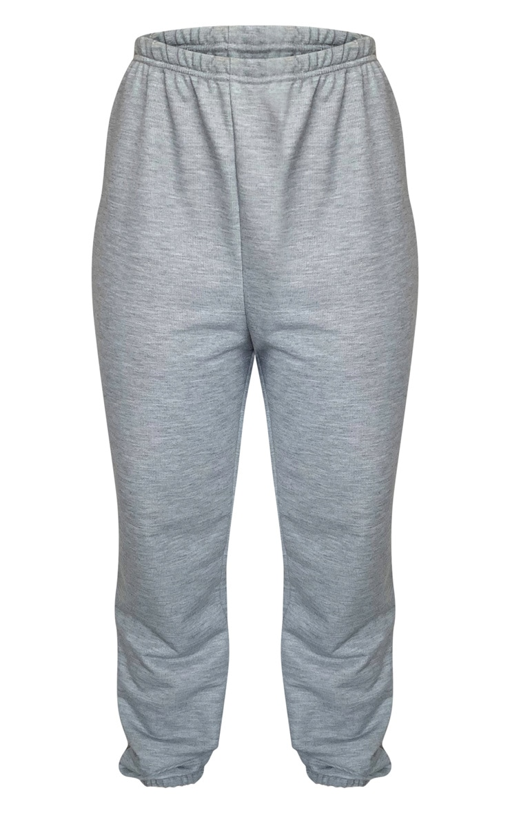 Grey Marl Basic Slim Fit Joggers 5