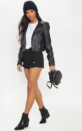 Elana mini-short en jean déchiré noir image 5 c92b4c5acdd