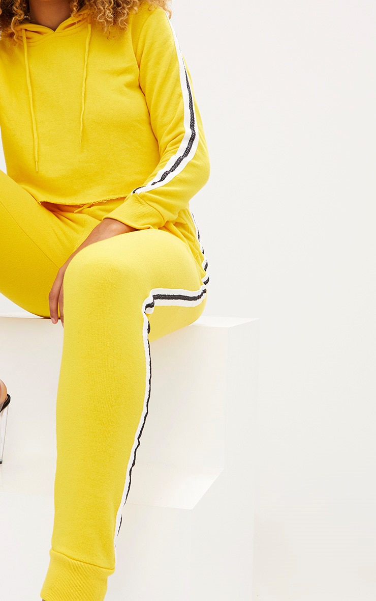 Yellow Side Stripe Joggers 5
