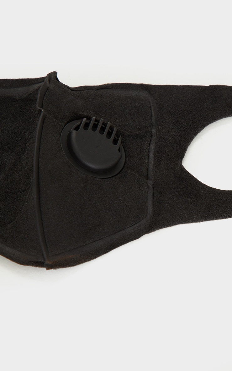 Black Face Mask With Filter 3