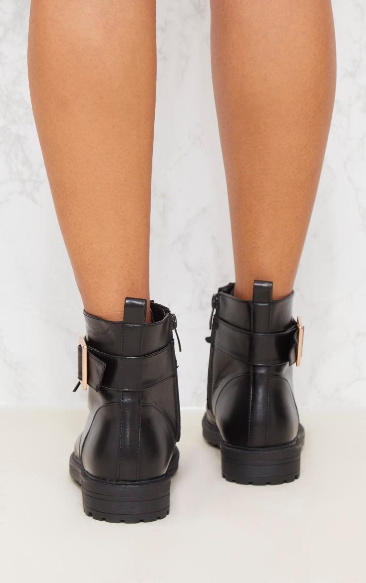 Black Studded Hiker Boot 5