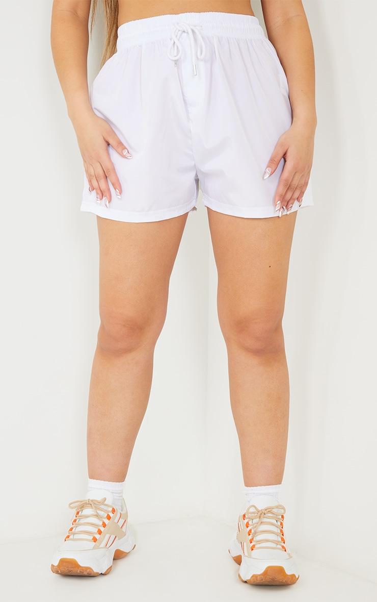 White Shell Runner Shorts 2