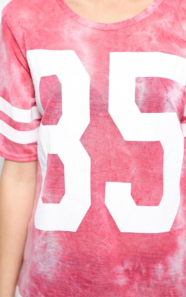 Luci Fuchsia Tie Dye '85' Sports Tee 4