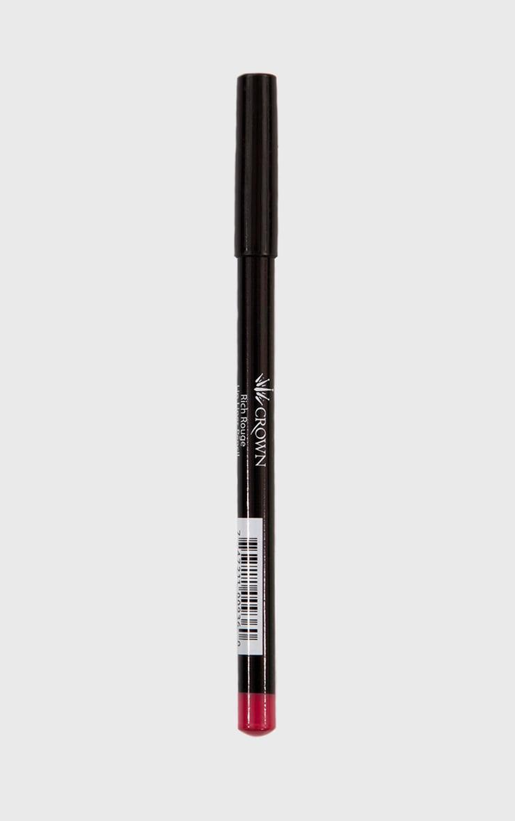 Crown Rich Rouge Lip Pencil 2
