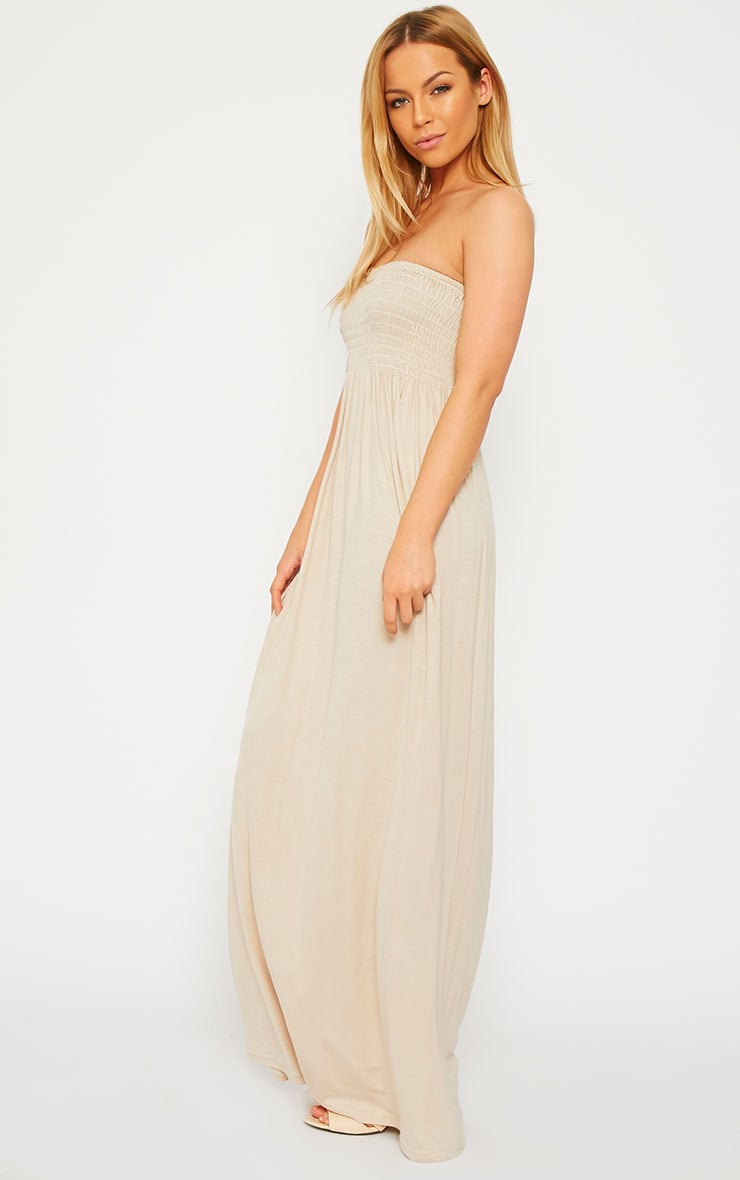 Tamara Stone Elasticated Bandeau Jersey Maxi Dress 4