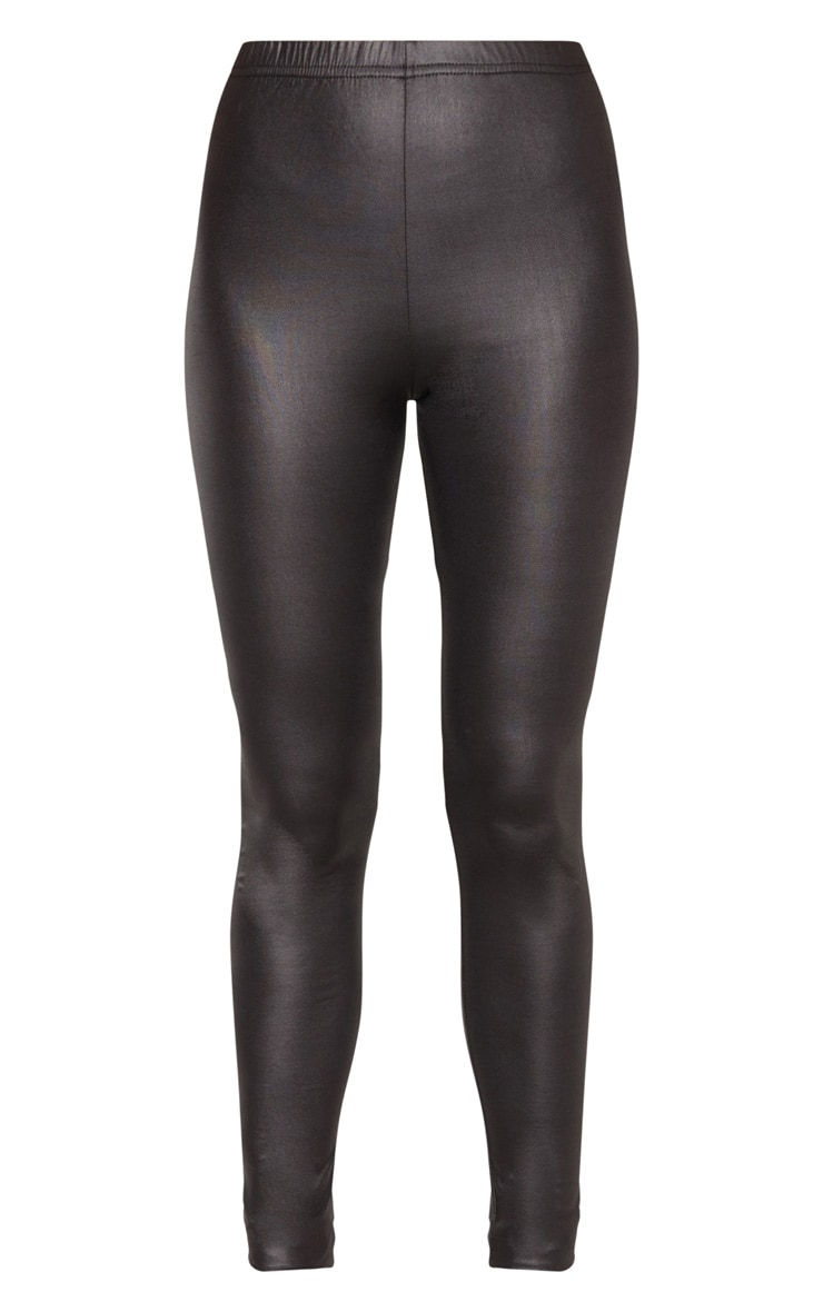Tall  Black PU Leggings 3