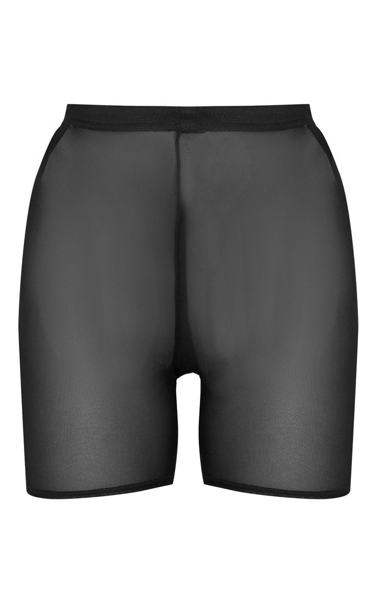 Black Mesh Basic Bike Short 3