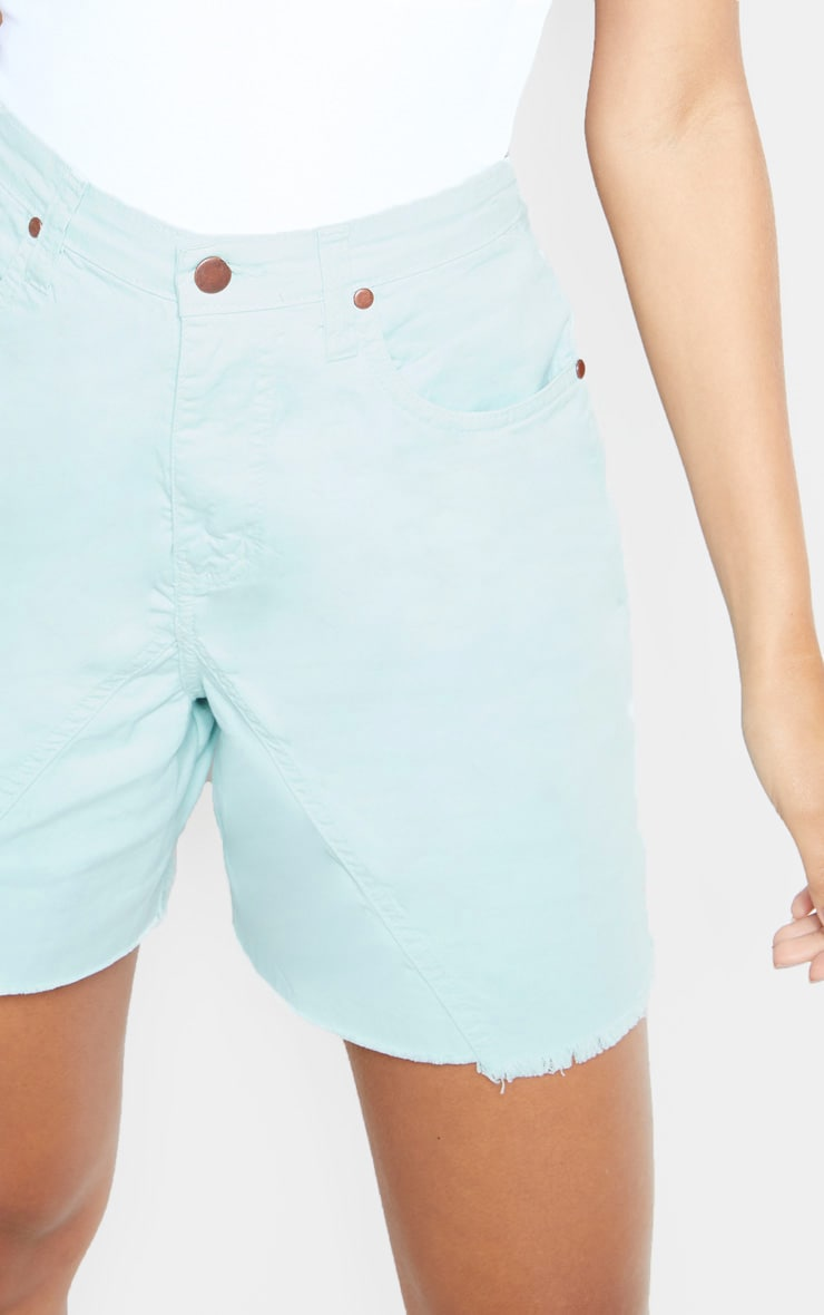 Mint Longline Denim Shorts 6