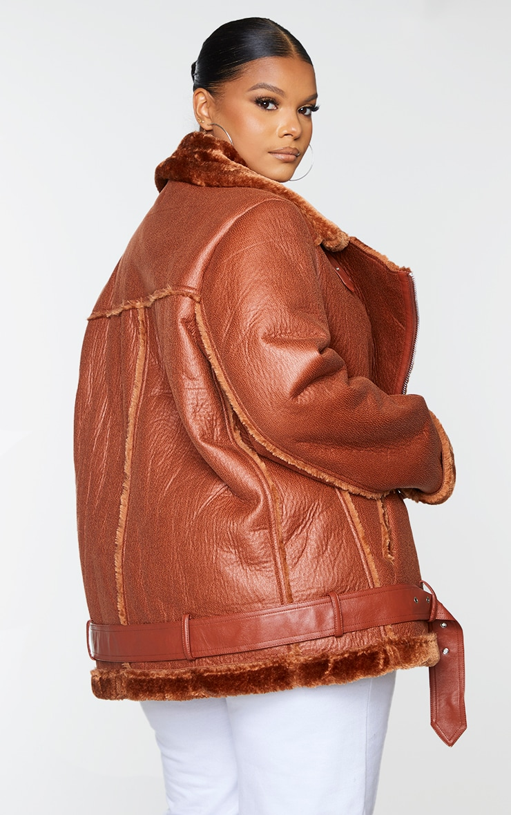 Plus Camel Oversized PU Aviator 2