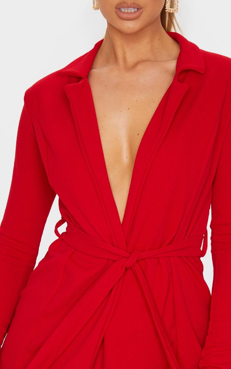 Red Belted Blazer  4
