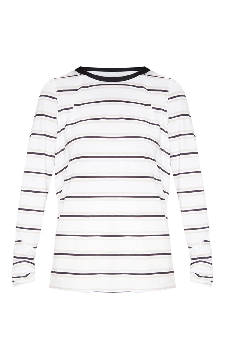White Stripe Long Sleeve T Shirt 3
