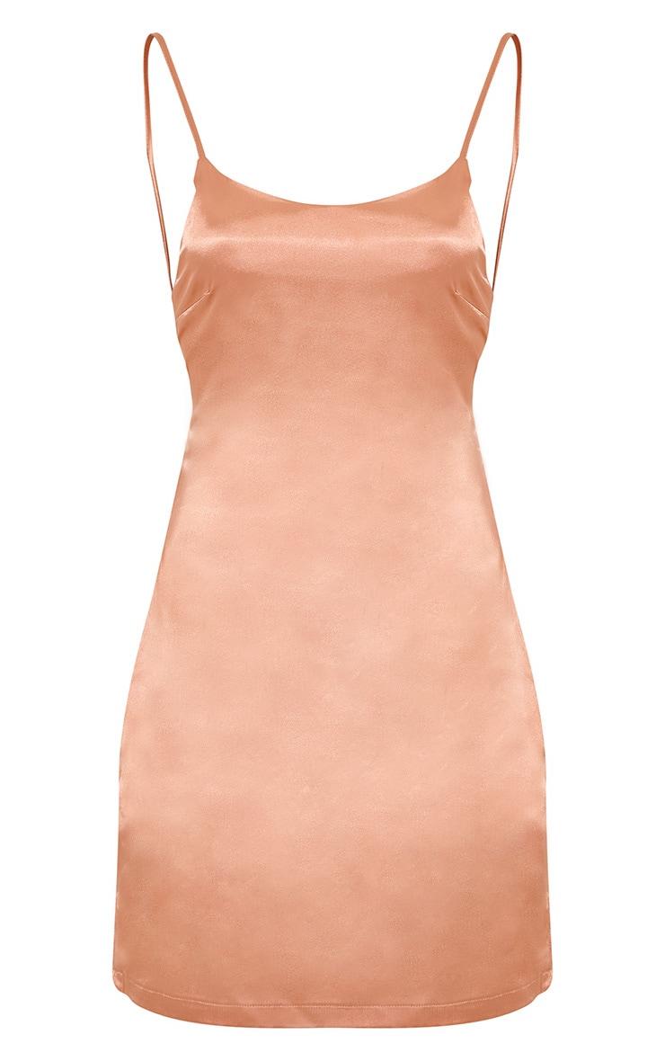 Sarna robe nuisette en soie à cordon dans le dos chair 4