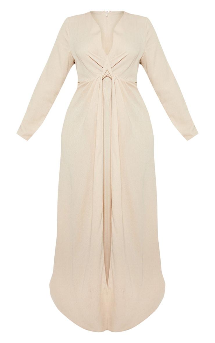 Plus Champagne Twist Front Maxi Dress 3