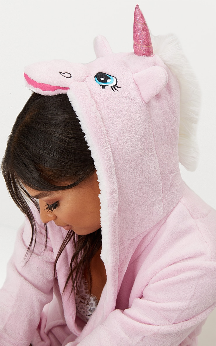 Pink Unicorn Dressing Gown 3