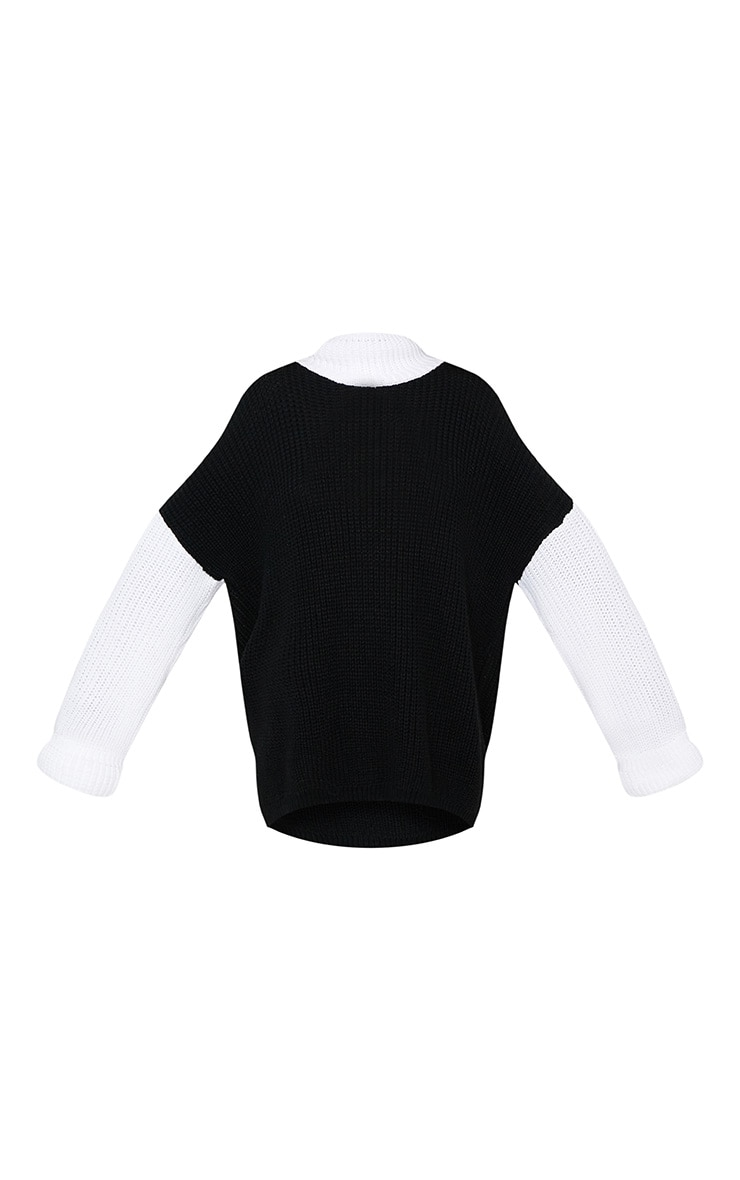Black Extreme Oversized Roll Neck Jumper 3