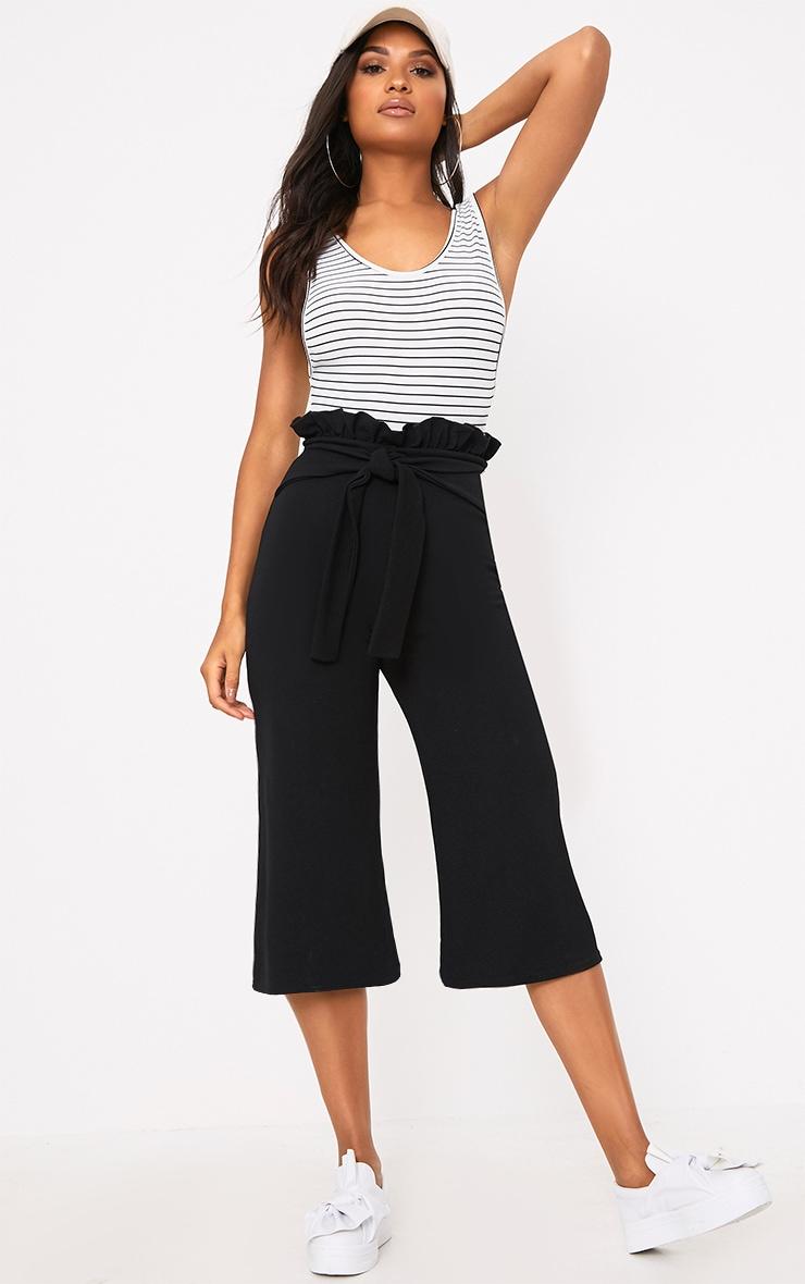 Jupe-culotte noire froncée 1