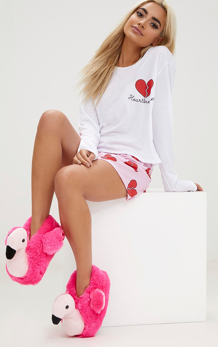 Pink Flamingo Slippers 4