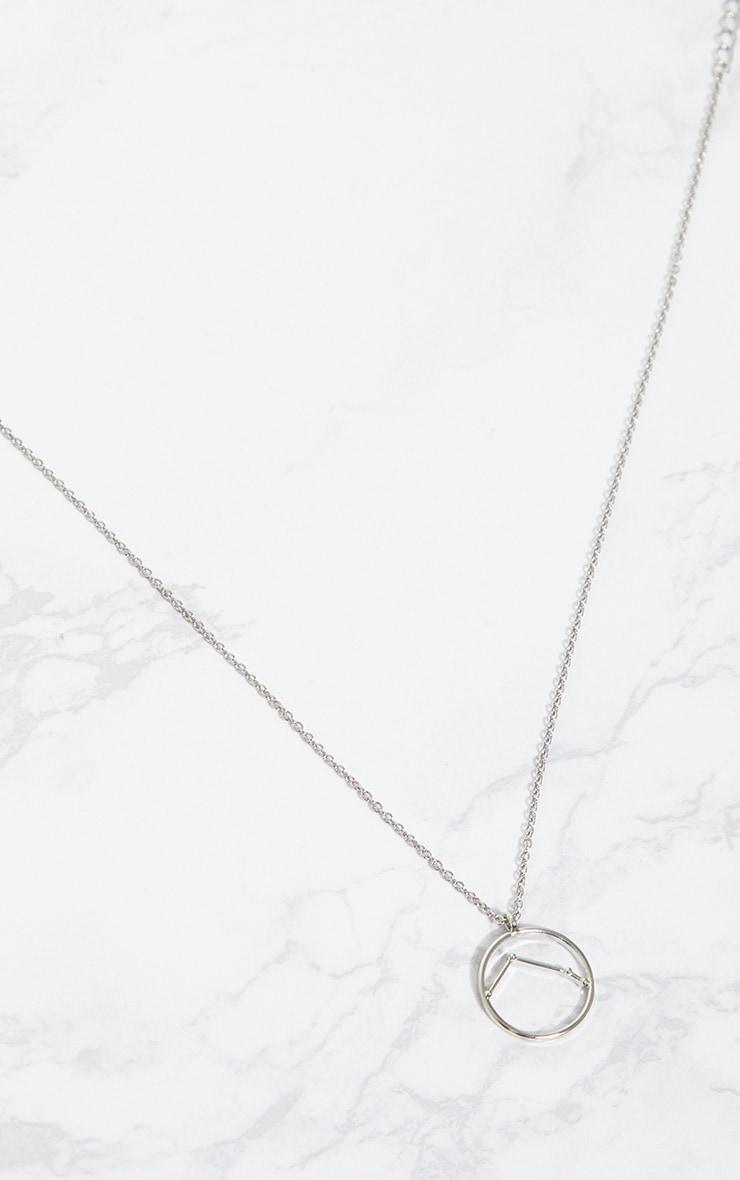 Silver Zodiac Aries Star Constellation Necklace 3