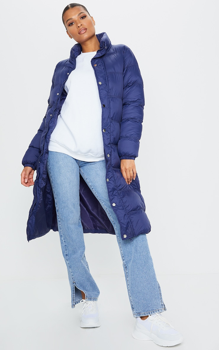 Navy Maxi Fitted Puffer 3