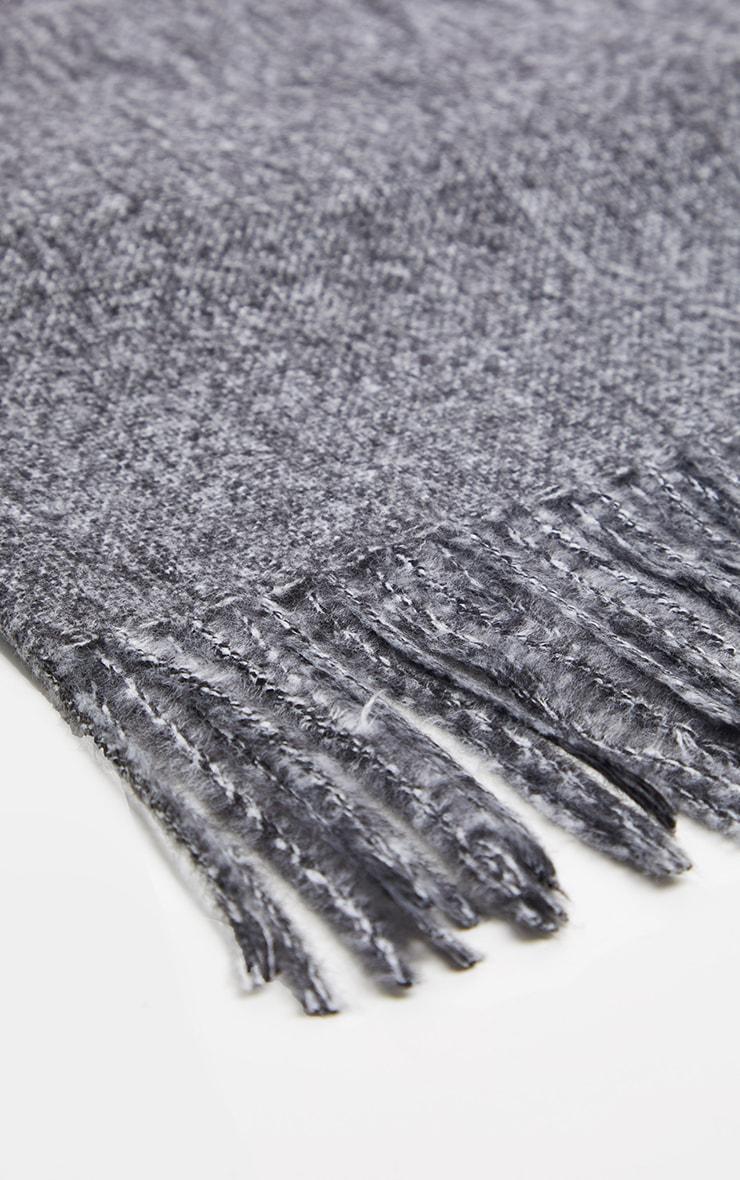 Grey Plain Scarf 3