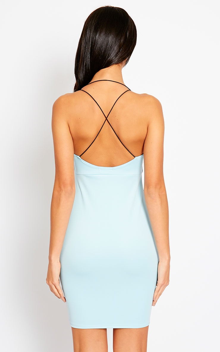 Gisele Powder Blue Plunge Dress 2