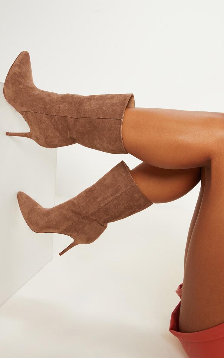 Sand Mid Heel Ankle Boot  2