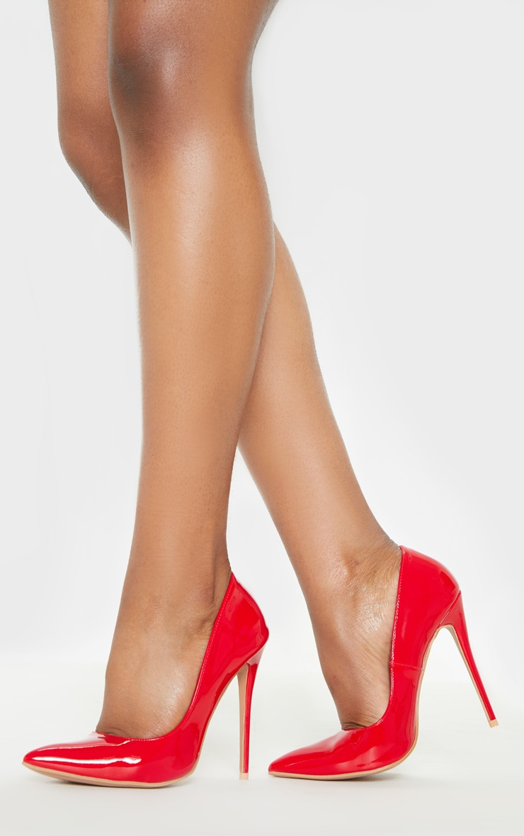 Red Wide Fit Court Shoes 2