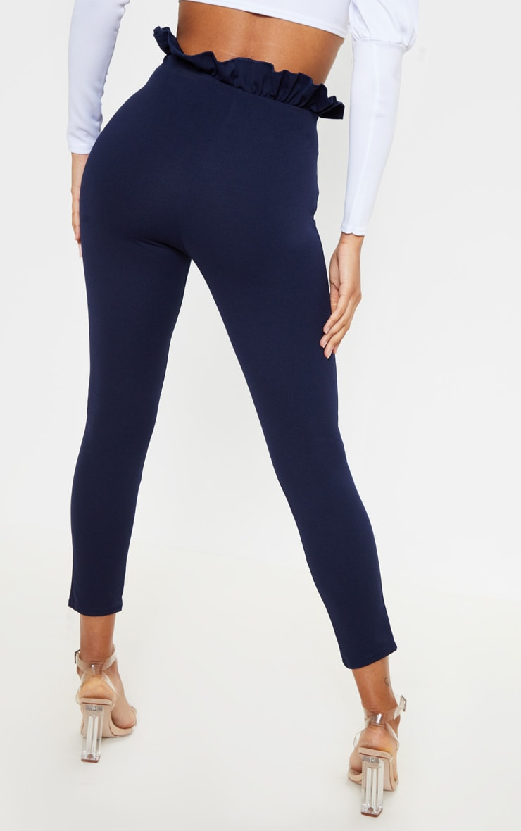 Navy Paperbag Skinny Pants 4