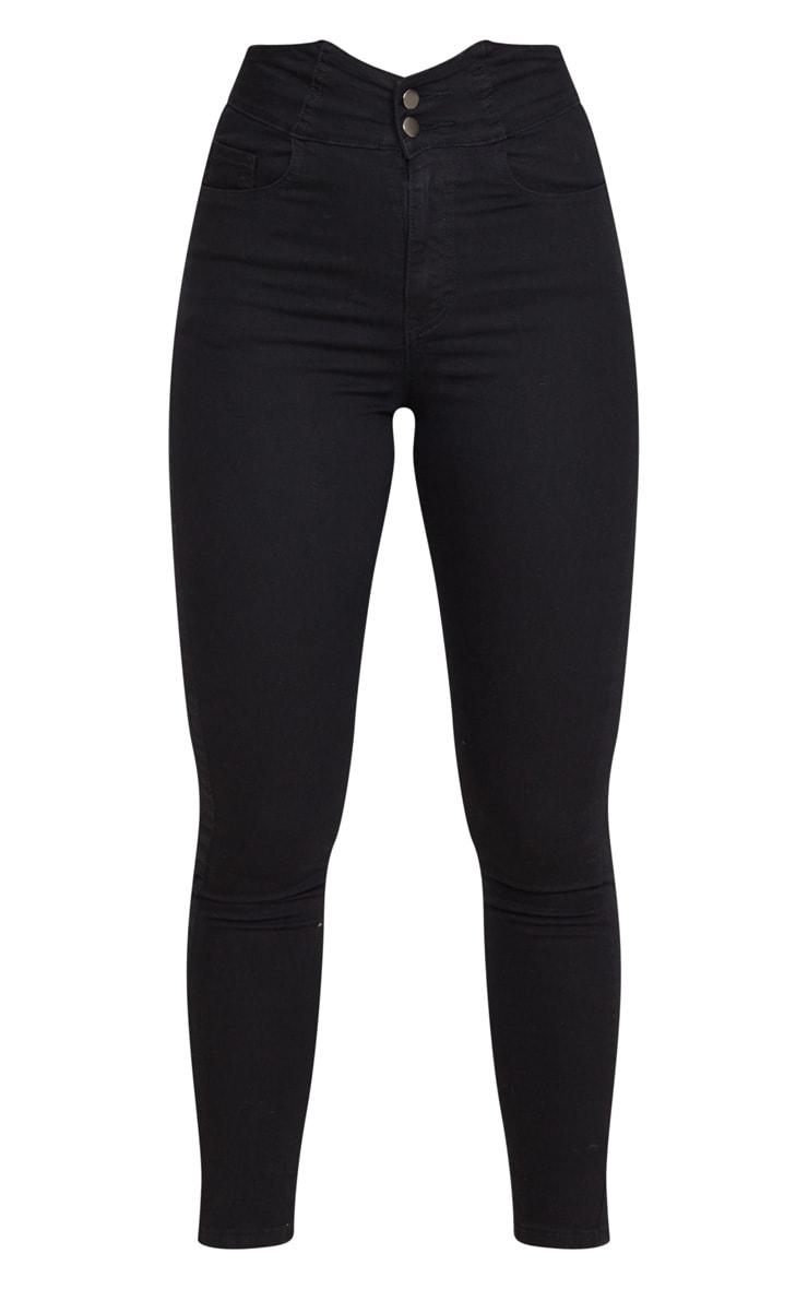 Black Super High Waist Disco Jeans 5