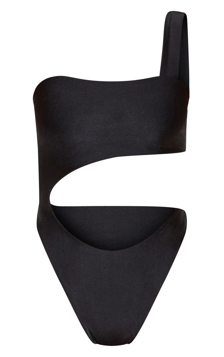 Black Cut Out Double Strap Swimsuit 7