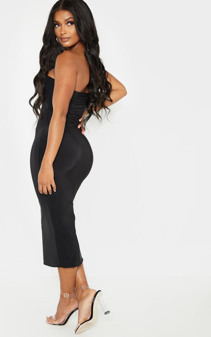 Shape Black Slinky Bandeau Midi Dress 2