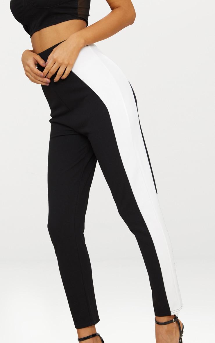 Black Side Panel Cigarette Trouser 4