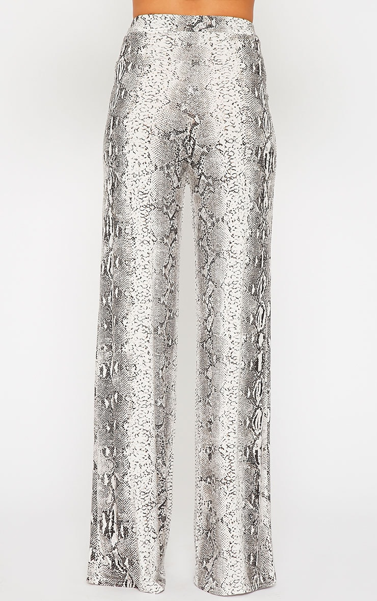 Maude Snake Print Flare Trousers 4