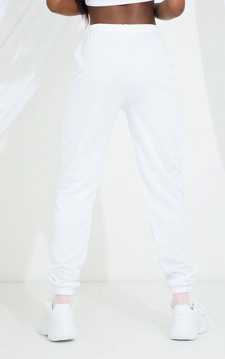 PRETTYLITTLETHING Tall White Basic Joggers 3