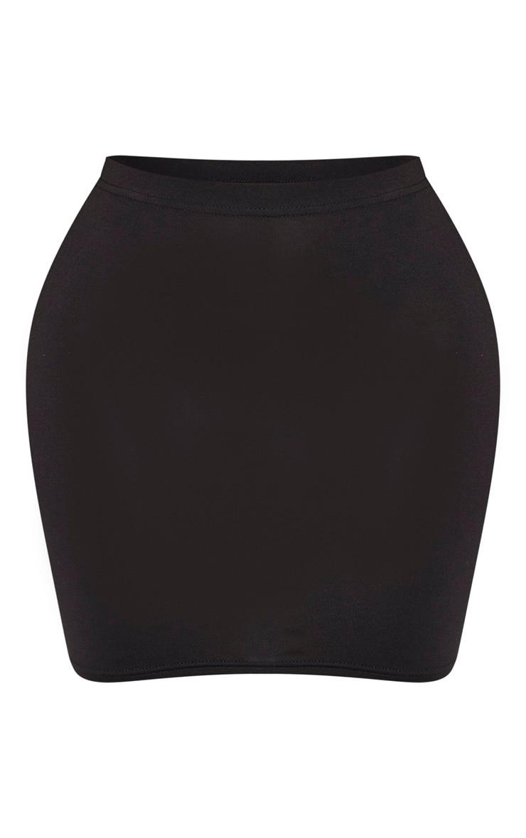 Shape - Jupe moulante en jersey noir 3