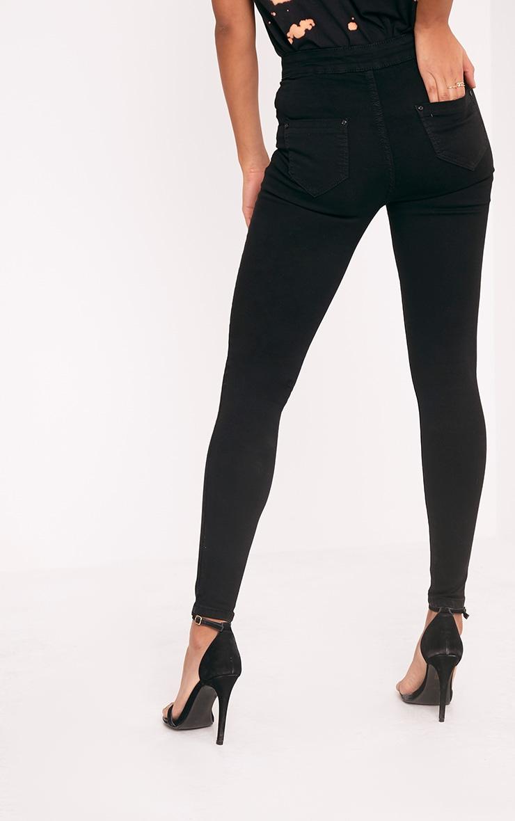 Jovie Black Knee Rip Skinny Jean 4
