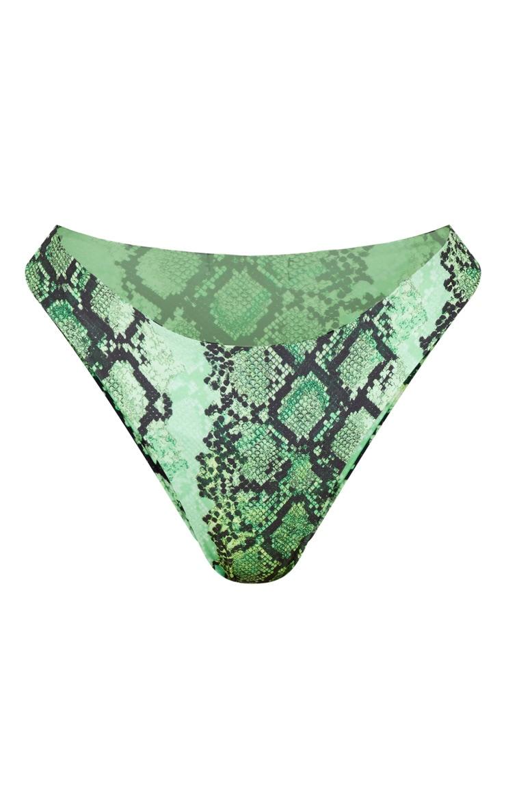 Green Snake High Bikini Bottom 3