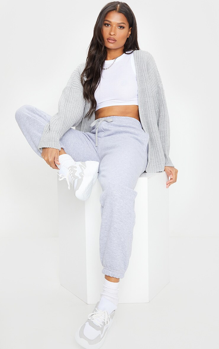 Grey Chunky Knit Slouchy Cardigan 3