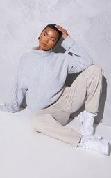RENEW Light Grey Knitted Rib Turtle Neck Sweater 1