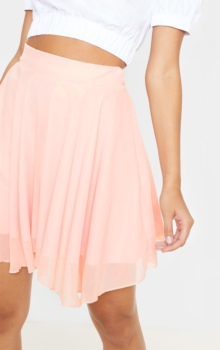 Dusty Pink Lightweight Woven Skater Skirt 6