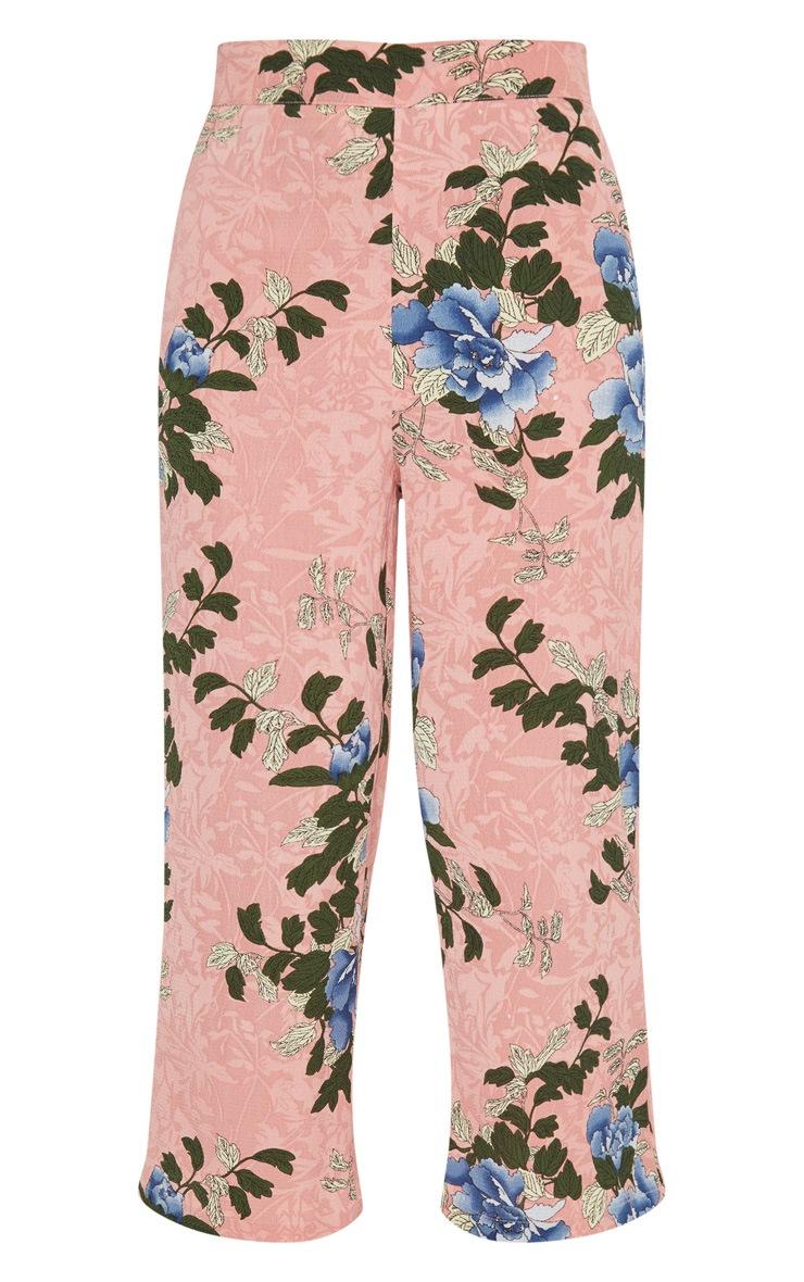 Pink Floral Printed Culotte 3