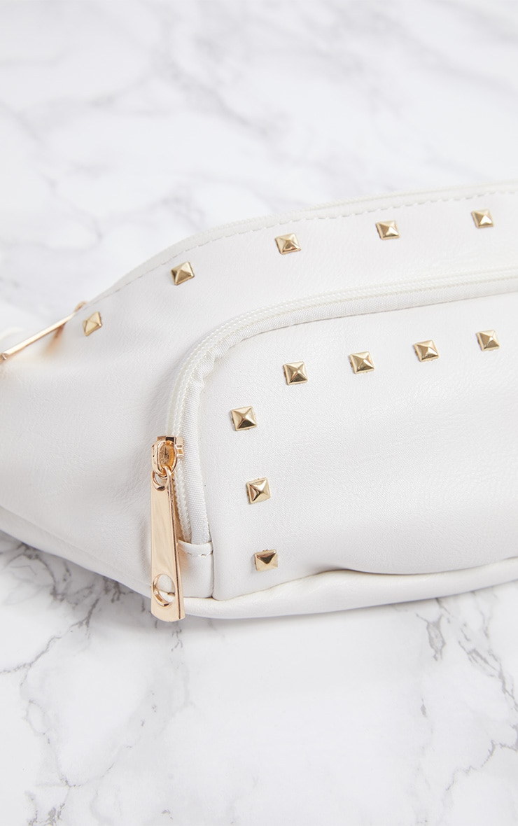 White Studded Fanny Pack 6