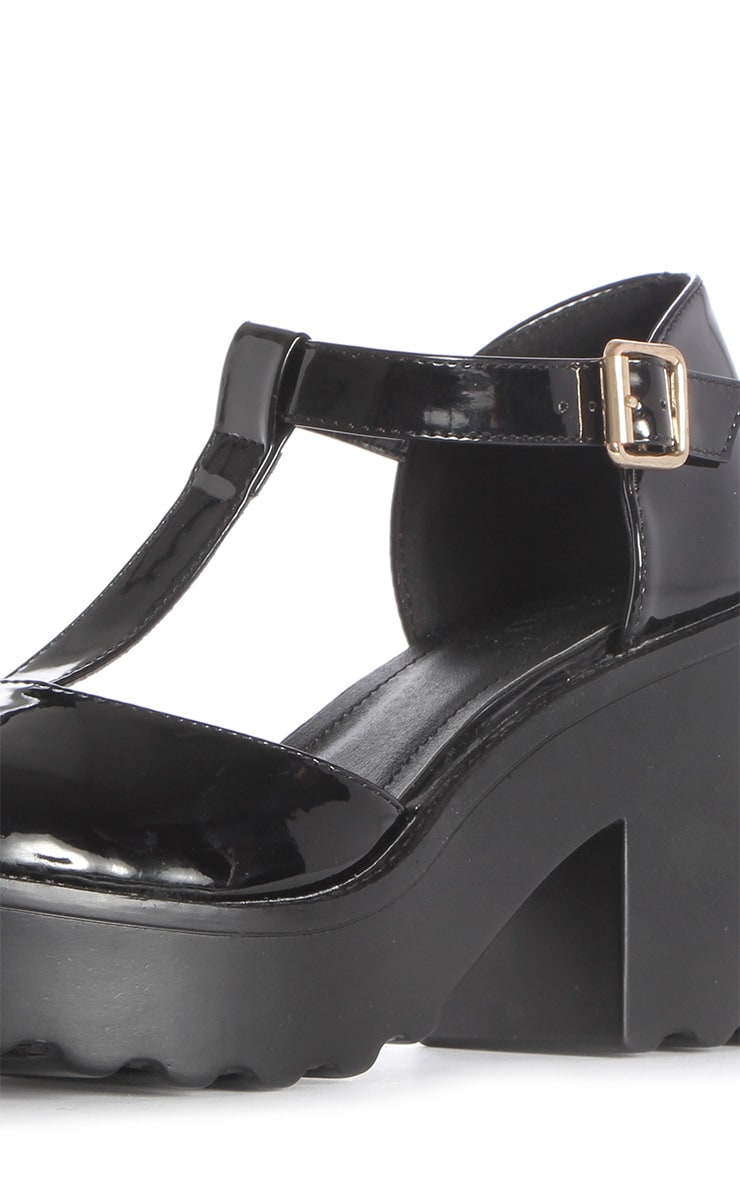Julia Black T Bar Sandals 4