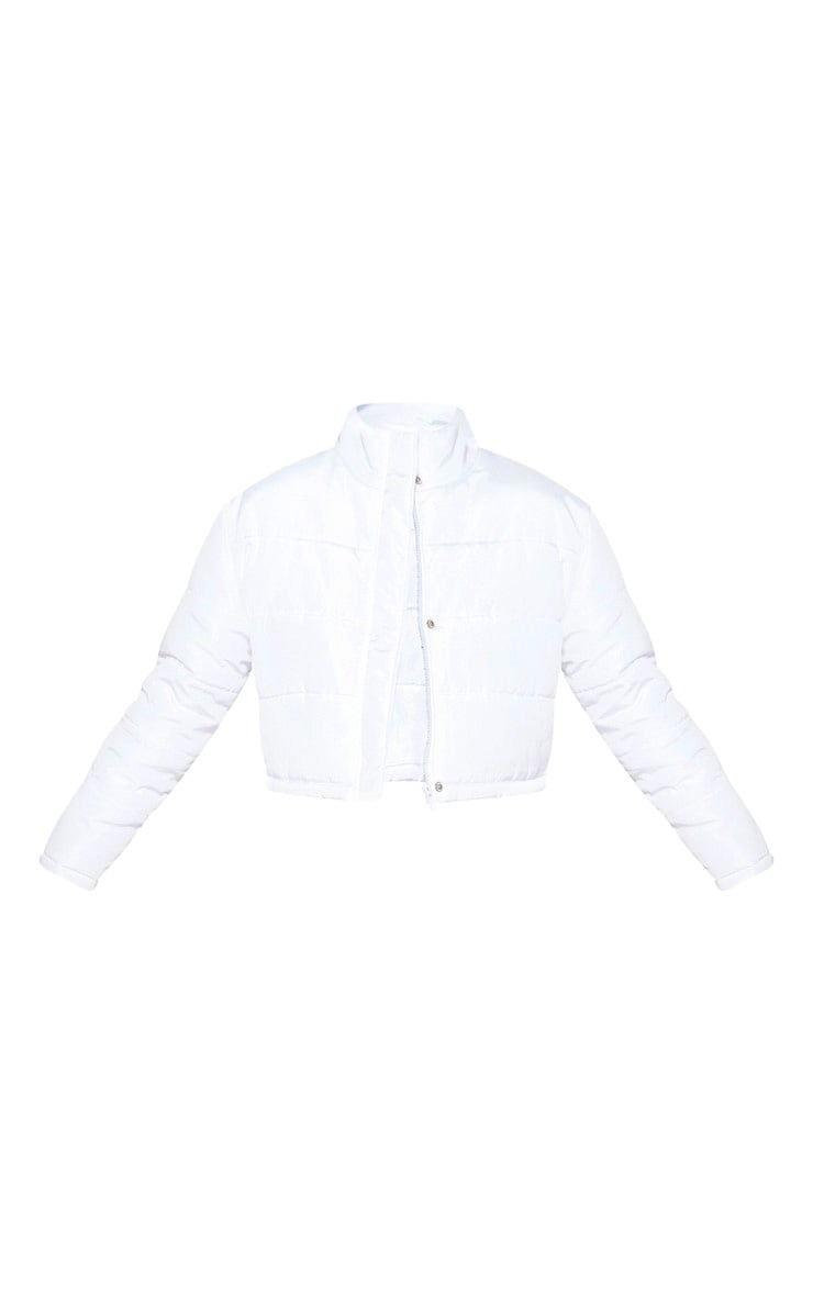 White Super Cropped Puffer  3