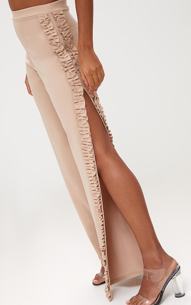 Stone Split Frill Seam Wide Leg Trousers 5