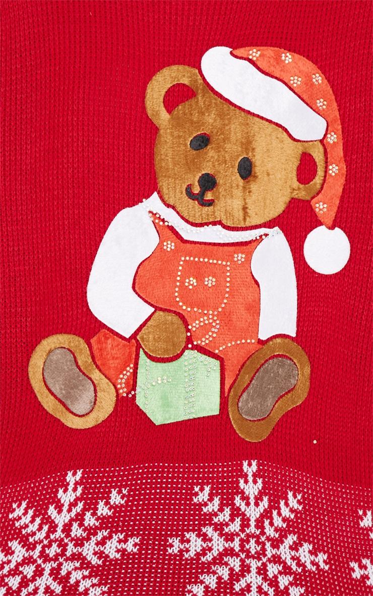 Carol Red Teddy Christmas Jumper 4