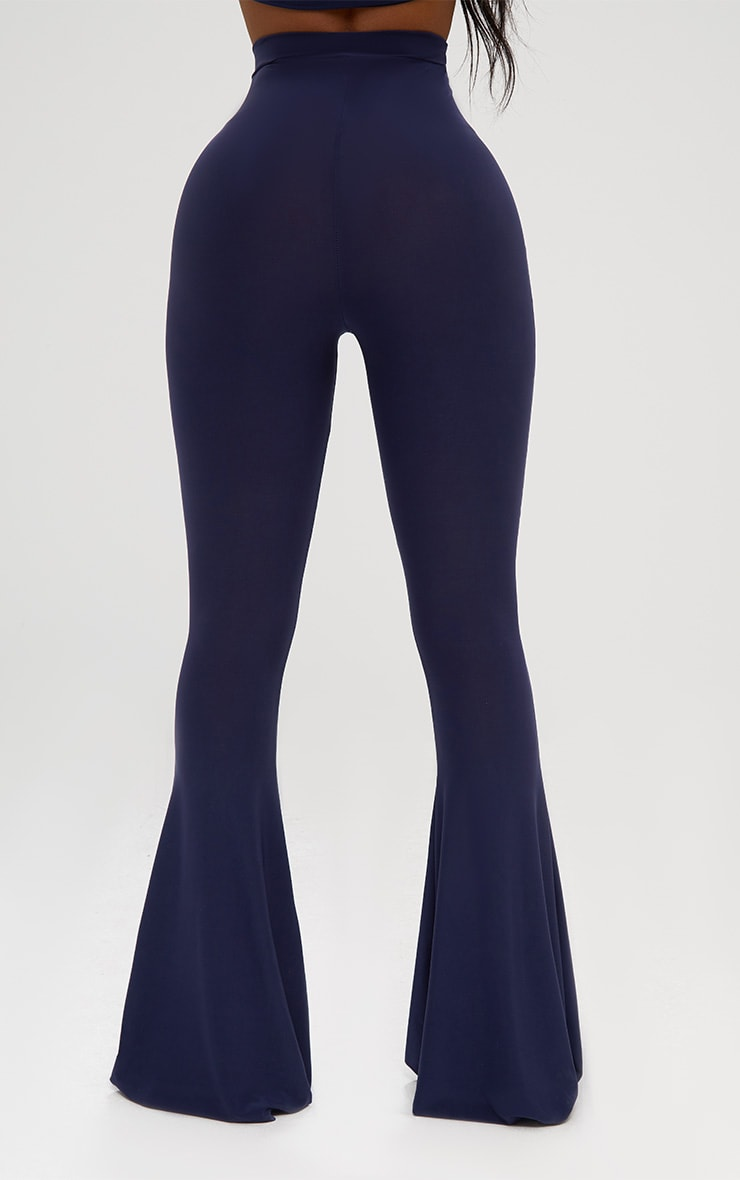 Shape Navy Slinky Flared Leg Pants 4