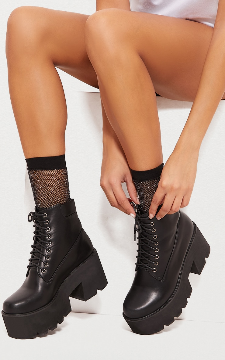 Black Chunky Festival Boot 1