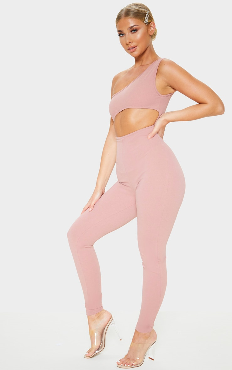 Rose One Shoulder Cut Out Detail Jumpsuit 4